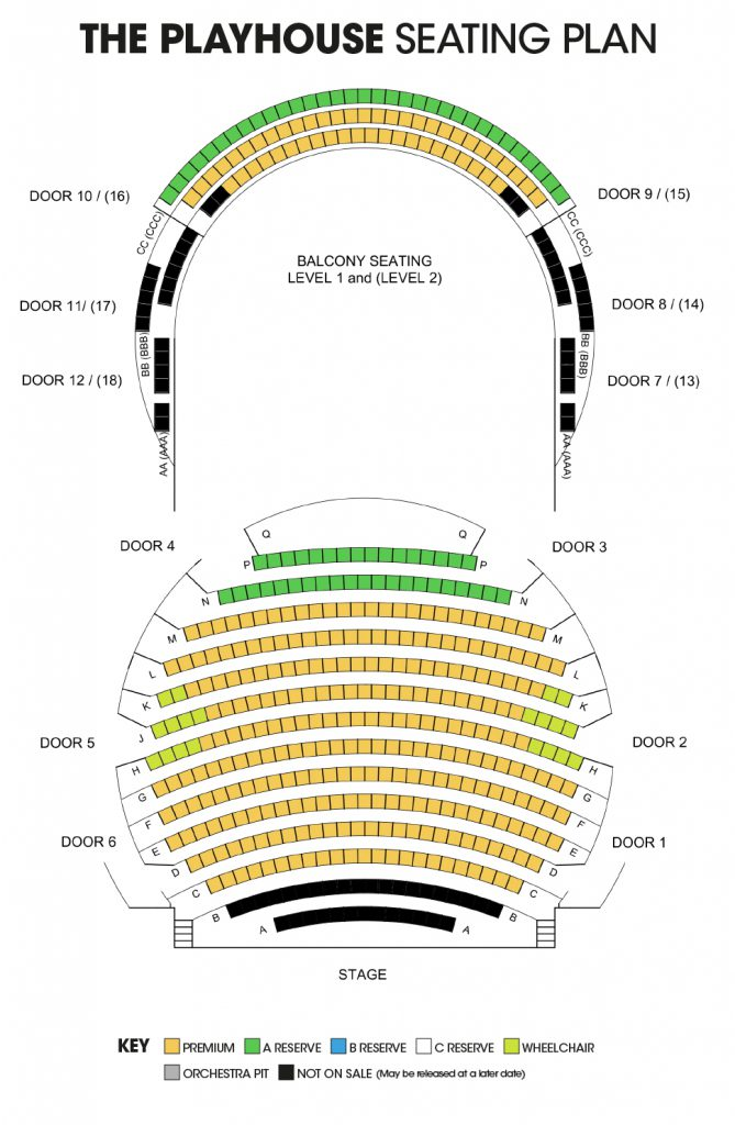 Playhouse Seating Plan