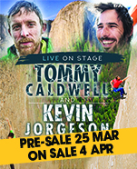 Tommy Caldwell and Kevin Jorgeson Live on Stage with The Dawn Wall, Wednesday 24 July 2019