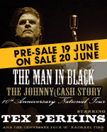 Tex Perkins – The Man in Black, Saturday 31 August 2019