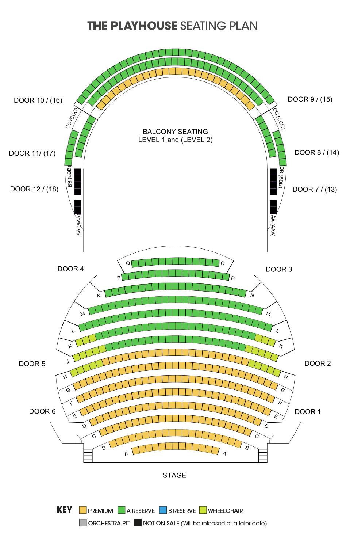 Playhouse Seating Plan