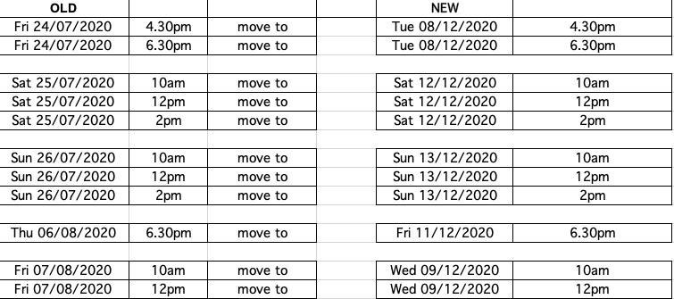 Bluey's Big Play Performance Dates
