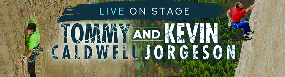 Tommy Caldwell and Kevin Jorgeson Live on Stage with The Dawn Wall